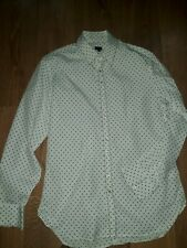 """PAUL SMITH 100% COTTON WHITE AND BLACK SPOTTY SHIRT SIZE M CHEST 40"""""""