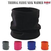 Thermal Polar Fleece Neck Warmer Tube Snood Bandanna Cap Scarf Warm Face Mask UK