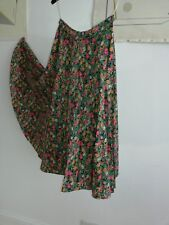 Skirt Green Pink small floral 1970s Vintage