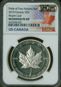 2019 CANADA $5 SILVER PRIDE TWO NATIONS CANADA NGC PF69 MODIFIED MAC SPOTLESS