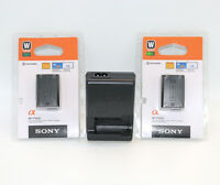 Two NP-FW50 Battery + BC-VW1 Charger For Sony Alpha NEX-3 3D 3DW 3K 5K 5C 5DB