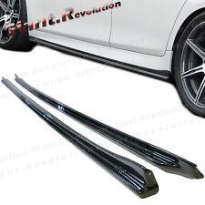 3K Carbon Fiber 3D Style Side Skirt Lip Spoiler For 2012Up BMW F10 M5 Sedan Use