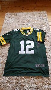 Neu Aaron Rodgers Trikot Gr. M Green Bay Packers NFL stiched Football QB Jersey