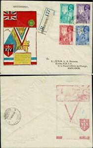 Victorious end of the Second World War -FDC(VI)-T-