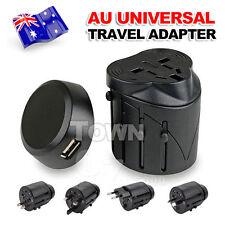 International Universal AC Travel Adapter USB Power Plug Converter AU UK US EU
