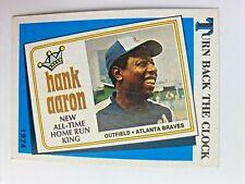 1989 Topps Hank #663 Baseball Card Great For Grading 1974