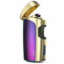 VVAY Elektro Lichtbogen Feuerzeug USB aufladbar Batterieanzeige