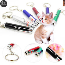 Mini Red Laser Pointer 2 In 1 With White Led Light Cat Pet Toy Keychain