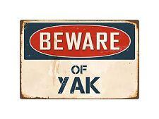 """Beware Of Yak 8"""" x 12"""" Vintage Aluminum Retro Metal Sign VS453"""