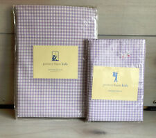 B7 Pottery Barn Kids Lavender Gingham Window Valance & Percale Nursery Curtains