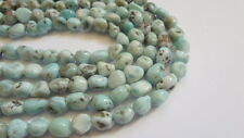 8-10mm Natural Larimar Nugget Semi Precious Gemstone Beads, Half Strand