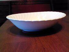 "Johnson Bros Regency Snow White Vegetable Serving Bowl 9"" x 7"" England Ironstone"