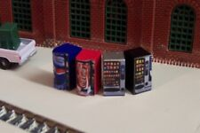 N scale Vending machines soda pop and snacks *NEAT* n gauge detail FREE SHIPPING