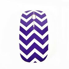 Chevron Series Purple USB Wireless Optical Mouse for All Macbook & Laptop
