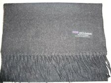 2 PLY Cashmere Scarf 72X12 Solid Charcoal Gray Made in Scotland Warm Wool Unisex