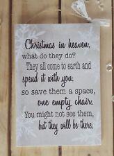 Handmade christmas in heaven quote plaque loved ones memories keepsake dad mum