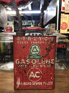 RARE VINTAGE CITIES SERVICE / AC SPARK PLUGS GAS CAN OIL SIGN STANDARD SINCLAIR