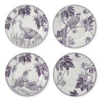 """NEW WILLIAMS SONOMA Autumn Vine Purple 9"""" Salad Plates SET OF 4"""
