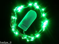 20 LED GREEN Battery CW String Lights Submersible 2m - Weddings. Centrepieces