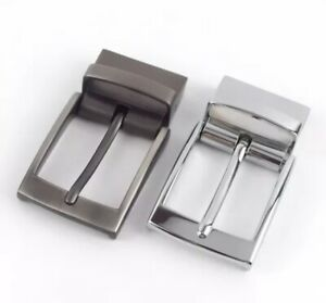 Classic 35 mm or 40 mm Metal Reversible Replacement Belt Buckle Single Prong