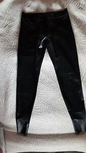 Latex Leggins Simon schwarz chloriert mit Öffnungen Größe M Herren 0,4mm