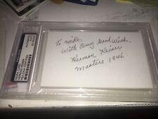 "Herman Keiser ""1946 Masters Winner"" SIGNED AUTOGRAPHED 3X5 PSA/DNA"