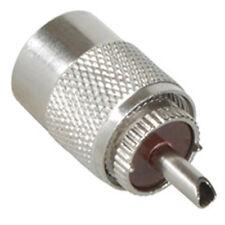 CB Radio Antena Coax Conector Enchufe Adaptador RG58 PL259 6mm Uhf 50 Ohm X2