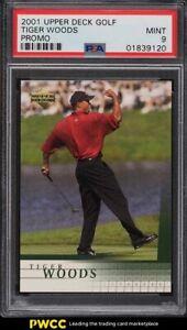 2001 Upper Deck Golf Promo Tiger Woods ROOKIE RC PSA 9 MINT
