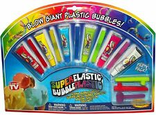 Super Elastic Bubble Plastic Party Pack-6 color tubes-by Nowstalgic Toys
