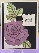 "Card Kit Set Of 4 Stampin Up Rose Wonder Watercolored ""Best Wishes"" Wedding"