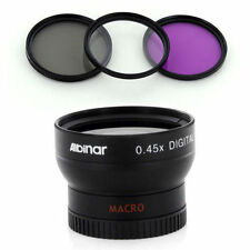 Wide Lens + Filter Kit for Sony NEX-F3 RX1 Alpha NEX-5R NEX-7 NEX-6 NEX-C3 NEX5