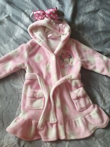 Girls Minnie Mouse Dressing Gown Age 2-3