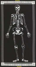 "TIMELESS TREASURES ""MR BONES"" GLOW IN THE DARK SKELETON PANEL 100% COTTON"