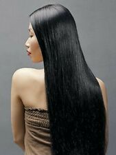 "Grade 7A 100% Malaysian Virgin Human Hair, Stght, 3Packs Natural Col 1B# 16"" £85"