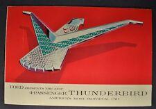 1958 Ford Thunderbird Brochure Folder Excellent Original 58 T-bird Not A Reprint