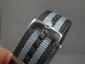 Rolex Buckle butterfly 20mm otan strap submariner datejust james bond nylon mili