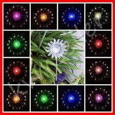 1 Piece Solar Powered Sun Flower Garden Yard Stake Pathway Lawn Light LED Sun i