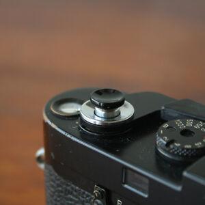 Black Concave Small Soft Release Button for Leica MP M8 M9 Fuji X100 Nikon Canon