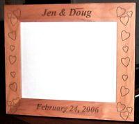 """Personalized Laser Engraved 8""""x10"""" Alder Wood Photo Frame"""