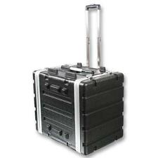"NEW PA DJ 8RU Portable Equipment Rack Mount Storage Case.on wheels.19"" Stage.8u."
