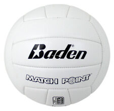 Baden Synthetic Leather Soft Match Point Cushioned Volleyball White BVSL14-700