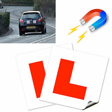 2 x FULLY Magnetic Exterior Car New Learner L Plates - Secure & Safe