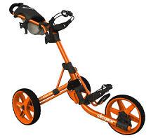 Golftrolley Clicgear 3.5+, 3-Rad, das neueste Modell, Farbe: all-orange  Neuheit