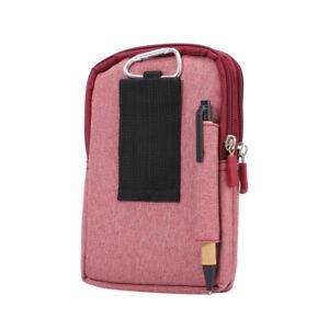 Men Waist Belt Bag Small Pouch Mobile Phone Card Holder Belt Loop Purse Polyster