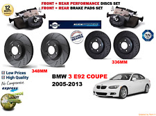 FOR BMW 335i E92 COUPE 05-13 FRONT & REAR PERFORMANCE BRAKE DISC SET + PADS KIT