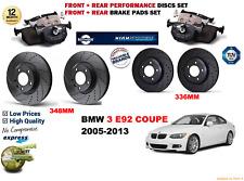für BMW 335i E92 Coupe 05-13 vorne & hinten PERFORMANCE BREMSSCHEIBE SATZ +