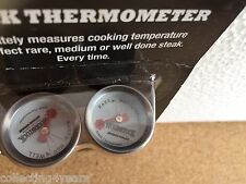 Woodstock Kentucky Bourbon THERMOMETER x2 NEW IN PACKET check meat temp bbqs