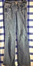 DP DEPARTMENT Of PEACE Straight Leg Embellished Jewel Distressed Jeans Size 3