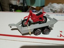 Mini Tonka Dirt Bike Motorcycle with Trailer Made in Hong Kong 1983 Vintage