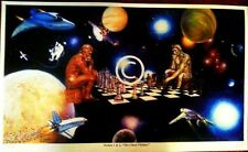 AFRICAN AMERICAN-THE CHESS THINKERS -CHESS ART PRINT-18''X33'',BY GREGORY MYRICK